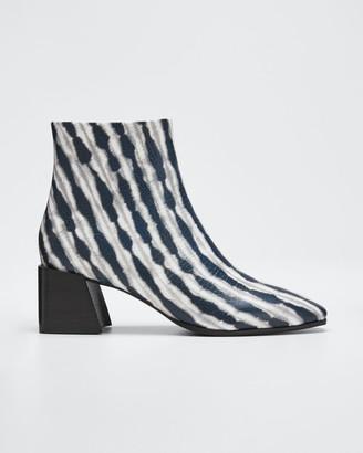 Sigerson Morrison Mandel Leather Block-Heel Booties
