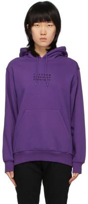 032c Purple Embroidered Logo Hoodie