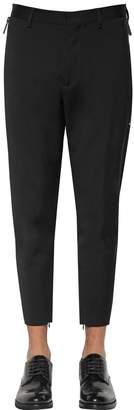 DSQUARED2 14cm Techno Skinny Wool Blend Cady Pants