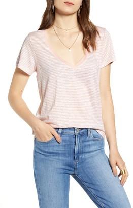 Paige Zaya V-Neck Cotton Blend T-Shirt