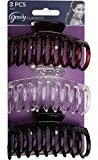 Goody Classics Claw Hair Clip, Medspiral, 3 Count,(Colors may vary)