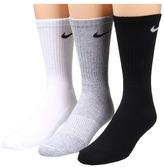 Nike Cotton Cushion Crew with Moisture Management 3-Pair Pack Men's Crew Cut Socks Shoes