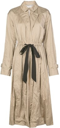 Jason Wu Collection Gathered Waist Trench Coat