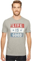 Life is Good Stars Stripes Crusher Tee Men's T Shirt