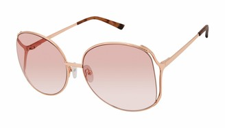 Sam Edelman Women's SE145 Round Metal Vented Metal Sunglasses with 100% UV Protection