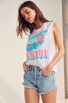 Truly Madly Deeply Honolulu Puff Print Muscle Tank Top