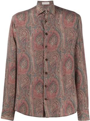 Etro long sleeve paisley print silk shirt