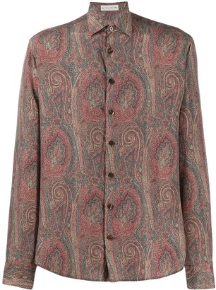 Etro Long Sleeve Paisley Print Silk Shirt