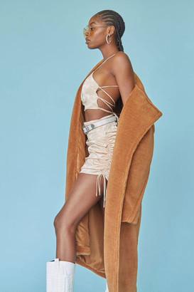 Forever 21 Satin Cropped Cami Skirt Set