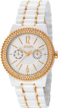JOOP! Joop Neocosmic Women's Quartz Watch with White Dial Analogue Display and Multicolour Ceramic Bracelet JP101082F01