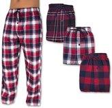 Andrew Scott Men's 3 Pack Cotton Flannel Fleece Brush Pajama Sleep & Lounge Pants (2XL, )