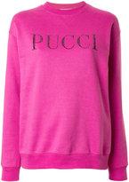 Emilio Pucci stone embellished logo sweatshirt