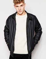 Firetrap Waxed Harrington Jacket - Black