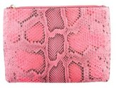 Calvin Klein Collection Python Zip Pouch