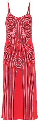 Y/Project Printed stretch-jersey slip dress