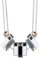 Givenchy Two-Tone Geometric Stone Statement Necklace