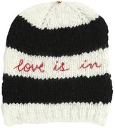 Péro Love Is In Embroidered Wool Knit Hat