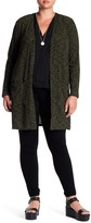 Planet Gold Ribbed Space Dye Open Front Cardigan (Plus Size)