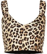 River Island Womens Brown leopard print bralette