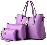Angelbless Bag Abless Women Lady Handbag Shoulder Bag Leather Messenger Hobo Bag Satchel Purse Tote 3 Pack