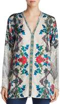 Johnny Was Cane Embroidered Silk Tunic