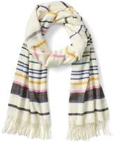 Gap Fringe thin stripe scarf