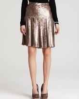 Edna Pleated Sequins Skirt