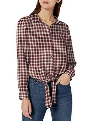 Goodthreads Modal Twill Tie-front Shirt Button,XS