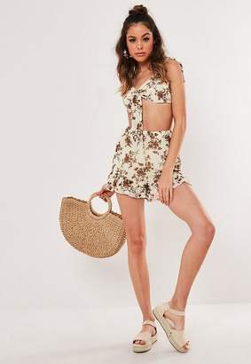 Missguided Floral Print Co Ord Floaty Shorts