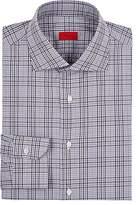 Isaia Men's Checked Cotton Dress Shirt