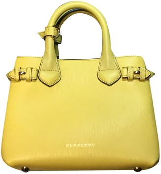 Burberry The Banner Yellow Leather Handbags