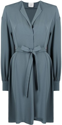 Alysi Belted Long-Sleeve Dress