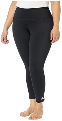 adidas Plus Size Believe This Solid/Heather 7/8 Tights (Black) Women's Casual Pants