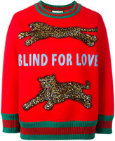 Gucci Blind for Love embellished sweatshirt - women - Cotton/Acrylic/Plastic/ceramic - L