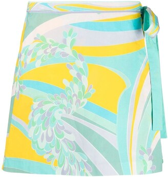 Emilio Pucci Lilly-print cover-up skirt