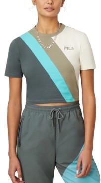 Fila Ekta Colorblocked Cropped T-Shirt