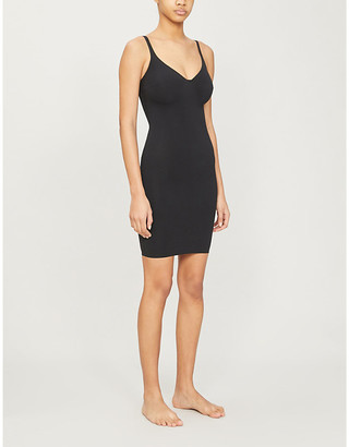 Wolford Black Deep-Plunge Stretch-Cotton Dress, Size: 8