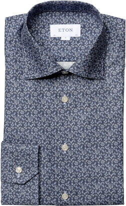 Eton Contemporary Fit Floral Dress Shirt