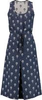 Vilshenko Pleated printed cotton midi dress