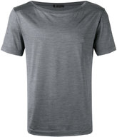Versace draped neck T-shirt - men - Silk/Cotton - M
