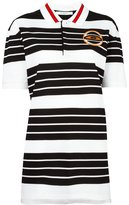 Givenchy stripe patch polo shirt - women - Cotton/Polyester - 36
