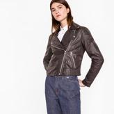 Paul Smith Women's Black Leather Biker Jacket