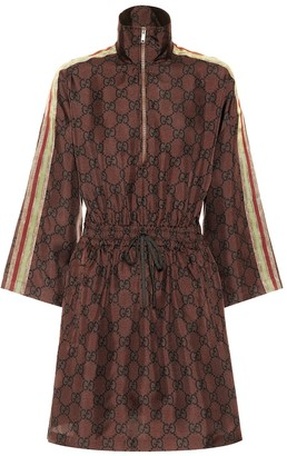 Gucci GG Supreme printed silk-twill dress