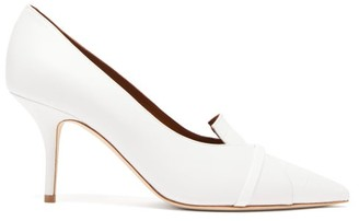 Malone Souliers Dina Panelled Leather Pumps - Womens - White