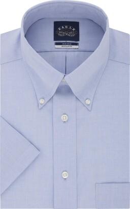 Eagle Men's Short Sleeve Dress Shirt Non Iron Regular Fit