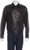 Salvatore Ferragamo Leather Field Jacket