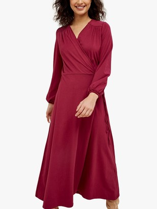 People Tree Inga Wrap Dress, Purple