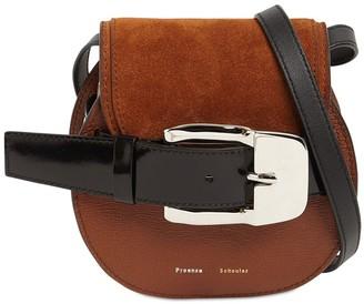 Proenza Schouler Buckle Grained Leather Crossbody Bag