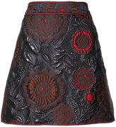 Paule Ka floral embossed pelmet skirt