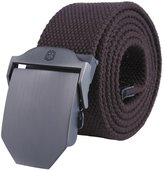 Kobwa(TM) Mens Slider Buckle Military Style Long Weave Canvas Web Belt, with Kobwa's Keyring